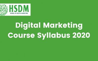 Digital Marketing Course Syllabus 2020 Download Curriculum PDF in India